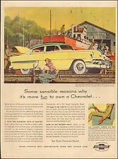 Vintage ad for Chevrolet`Retro Car Photo Yellow/green  (010717))