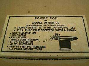 NEW, Model Dynamics POWER POD Kit, fits .09 to .19 engines, VERY VINTAGE