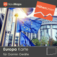 Topo Karte EUROPA Deutschland Garmin Oregon 300 400 450 500 550 600 650 650t