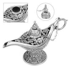 Zinc Alloy Metal Vintage Arabian Hollow Light Carved Aladdin Genie Oil Lamp Pot