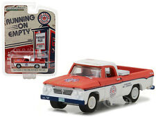 1962 DODGE D-100 LONG BED W/ TOOL BOX RED CROWN GASOLINE 1/64 GREENLIGHT 41020 A