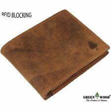 NEW men's wallet purse RFID safe genuine leather brown format landscape AU
