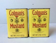 Vintage Lot of (2) Colman's Mustard Spice 2oz Collectible Tin Boxes