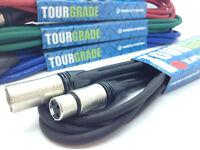 Neutrik XLR Microphone Cable Mic Cable Lead XLR to XLR Patch BEST PRICE 2m 5m 6m