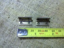 stop hinges x 2, 20 mm, for tea caddy or small box, folded brass, antique (TP1)