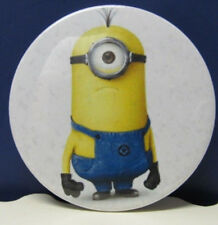"Universal Studios - ""DESPICABLE ME"" MINION BUTTON PIN 2 1/2 in dia"
