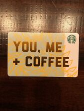 "Starbucks ""YOU ME COFFEE"" 2018 Recycled Paper Edition gift card set Lot Of 5"