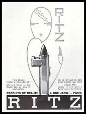 PUBLICITE RITZ PRODUITS DE BEAUTE COSMETIQUE COSMETIC   AD  1932 -2H