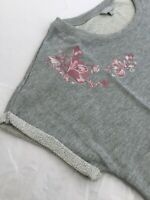 Harmony & Balance Summer Embroidered Top NWT Plus 2X PInk Floral Pullover Knit