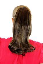 extension postiche MARRON TRESSE cheveux avec épingle à cheveux-papillon LISSE