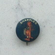ANTIQUE CELLULOID ADVERTISING PINBACK BUTTON PIN SHARPLES CREAM SEPARATOR