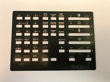 Original Tastenauflage Bezeichnung für Grundig TP 600 VT Fernbedienung TV Hifi