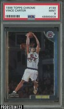 1998-99 Topps Chrome #199 Vince Carter Toronto Raptors RC Rookie PSA 9 MINT