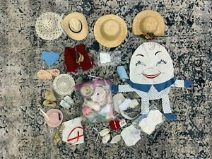 Doll Underwear Hats Shoes Ribbons Boxed Lot from Doll Shop Lot 8