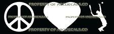 PEACE LOVE TENNIS SERVE Vinyl Wall Sticker Car Bumper Window Decal