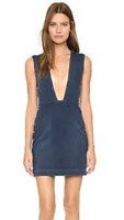 McQ Women's V-Neck Dress Studded Vintage Wash 36 (US 0)