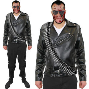 MENS CYBORG ASSASIN COSTUME  ADULT 1980S MOVIE FANCY DRESS HALLOWEEN OUTFIT