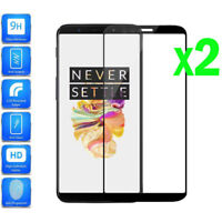 2Pcs 3D Full Cover Real Premium Tempered Glass Screen Protector For OnePlus 5T&5