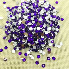 800pcs 4mm Purple Facets Resin Rhinestone Gems Flat Back Crystal Beads