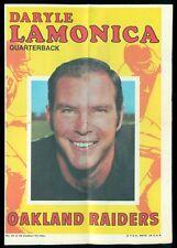 1971 FOOTBALL TOPPS POSTER PIN UPS  UNUSED 21 Daryle Lamonica NM Oakland Raiders