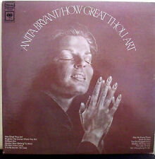 Anita Bryant How Great Thou Art Gospel Music LP Album