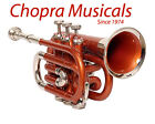 Buy Pocket Trumpet 3V 100% Brass Orange Color with Mouth Piece +Case Free 11/1