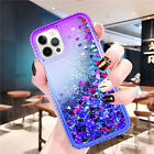 For iPhone 12 13 Pro Max 13 Mini Case Bling Liquid Shockproof Hybrid Phone Cover
