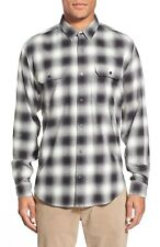 Men's 7 For All Mankind Trim Fit Plaid Flannel Twill Sport Shirt M MSRP $225