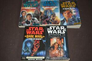 LOT de 5 Livres Star Wars édiition Fleuve noir LIVRAISON OFFERTE !!!!!!!!!!!!!!!