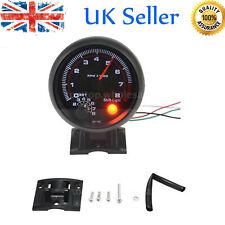 Vehicle Universal Car Tacho Rev Counter Gauge Tachometer + Red LED RPM Light UK