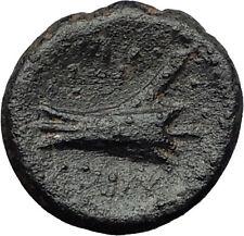 ARADOS in PHOENICIA 206BC Zeus Galley Ship RAM Genuine Ancient Greek Coin i60727