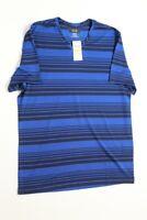 $40 Alfani Performance Wicking V Neck T Tee Shirt Medium Blue Polyester