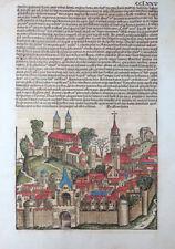 BALKAN MAZEDONIEN MACEDONIA ANSICHT SCHEDEL WELTCHRONIK INKUNABEL KOBERGER 1493