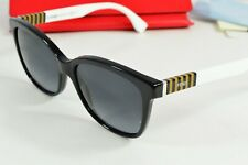 NEW Fendi White Black Round Striped Sunglasses Womens FF0054/F/S 7TX