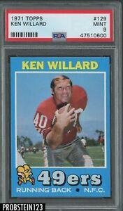 1971 Topps Football #129 Ken Willard San Francisco 49ers PSA 9 MINT