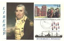 CHARLES C. PINCKNEY Ship named: Colonial & Revolutionary War Figure Postal Card