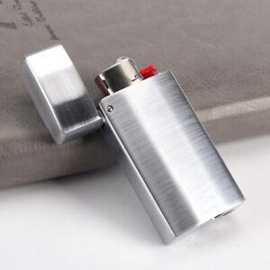 new 1PC Metal Lighter Case Cover Holder Sleeve for BIC M3 Series Lighter J5 Gift