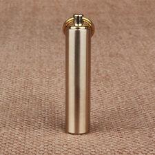 Waterproof Brass Pill Box Case Medicine Bottle Holder Container Keychain PR