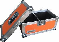 "7"" Single 200 Swan Flight Case Vinyl Record Box (Orange Rigid PVC)"