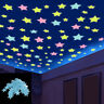 Glow In The Dark Star Wall Stickers 100Pcs Star Moon Luminous Kids Decor Room