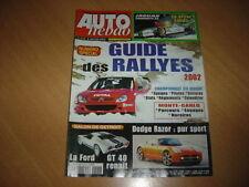 Auto hebdo N°1323 Rallye Guide 2002.Cizeta