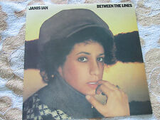 Janis Ian ‎– Between The Lines CBS S 80635 Inner Lyric Sleeve UK Vinyl LP Album