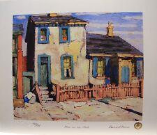 "Lawren HARRIS "" House in The Ward  "" LTD art print Biography Group of Seven"
