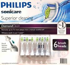 6x Genuine Philips Sonicare DiamondClean Electric Toothbrush Replacement Heads