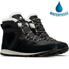Sorel Whitney Flurry Womens Ladies Black Waterproof Warm Snow Winter Boots