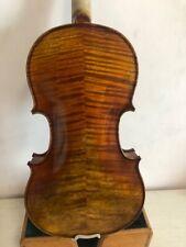 Master 4/4 violin Stradi model flamed maple back old spruce top hand made K1548