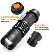 LED Torch Super Bright Police Flashlight Camp Light Lamp Mini Powerful Bright