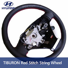 Red Stitch Leather Steering Wheel For Hyundai 2003-2008 TIBURON  COUPE FL1