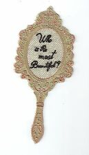 """Embroidery Patch: Small """"Who is the most Beautiful?"""" Mirror"""