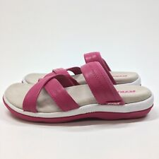 New Ryka Pink Cross Strap Comfort Sandals Size 6M